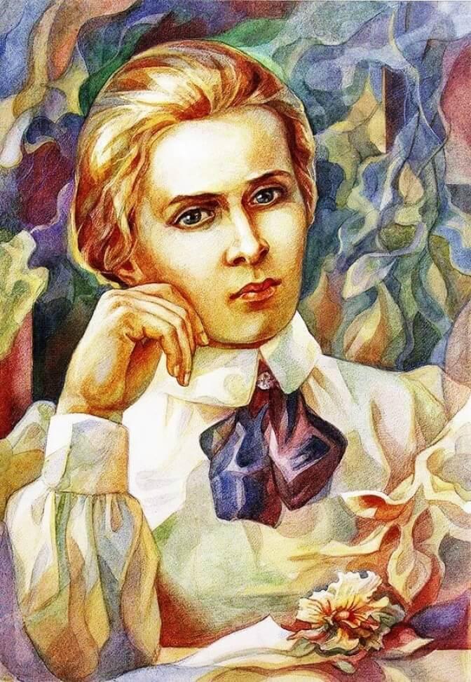 Леся Українка портрет